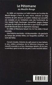 Le petomane au moulin-rouge - 4ème de couverture - Format classique