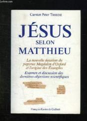 Jesus selon matthieu - Couverture - Format classique