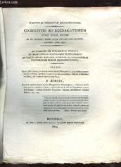 Competitio Ad Aggregationemi Jussu Regis Optimi Et Ex Mandato Summi Regiae Universitatis Magistri Instituta Anno 1823. Texte En Latin. - Couverture - Format classique