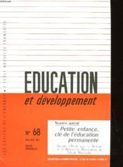 Education De Developpement N°68 - Couverture - Format classique