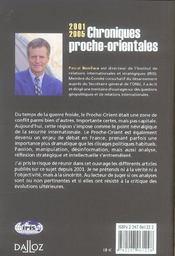 Chroniques proche-orientales, 2001/2005 - 4ème de couverture - Format classique