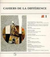 Cahiers De La Differences N 1 - Couverture - Format classique