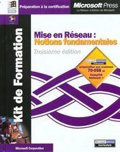 Mise En Reseau Notions Fondamentales 3 Edition - Intérieur - Format classique