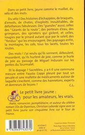 Le petit livre jaune - 4ème de couverture - Format classique