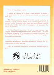 Publier Son Livre - 4ème de couverture - Format classique