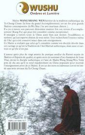 Wushu ; ombres et lumière - 4ème de couverture - Format classique