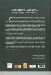 Déterritorialisation ; effets de mode ou concept pertinent? - 4ème de couverture - Format classique