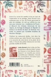 Voyage amoureux dans la cuisine des terroirs - 4ème de couverture - Format classique