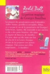 La potion magique de georges bouillon - Couverture - Format classique