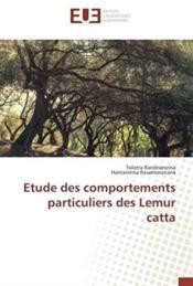 Étude des comportements particuliers des Lemur catta - Couverture - Format classique