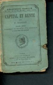 Capital et rente - Couverture - Format classique