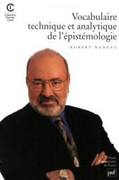 Vocabulaire technique et analytique de l'épistémologie - Couverture - Format classique