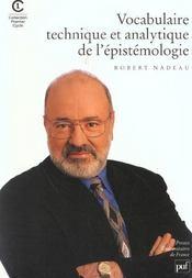 Vocabulaire technique et analytique de l'épistémologie - Intérieur - Format classique