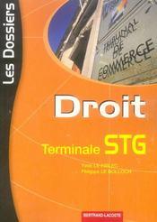 Dossiers Droit Terminale Stg - Intérieur - Format classique