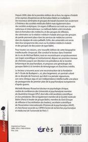 Michael Balint ; le renouveau de l'école de Budapest - 4ème de couverture - Format classique
