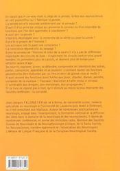 Cerveau Et Pensee ; La Conquete Des Neurosciences - 4ème de couverture - Format classique
