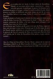 Le prince de kazarkhan - 4ème de couverture - Format classique