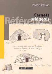 Carnets ariegeois - Couverture - Format classique