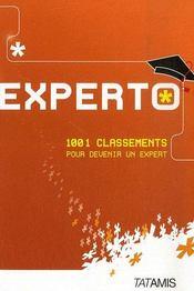 Experto ; 1001 classements pour devenir un expert - Intérieur - Format classique