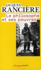 Le philosophe et ses pauvres - Couverture - Format classique