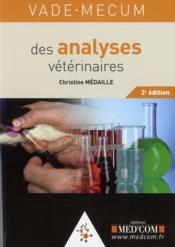 Vade-mecum des analyses vétérinaires (2e édition) - Couverture - Format classique