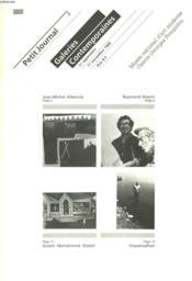 Petit Journal. Galeries Contemporaines. 11 Septembre-11 Novembre 1985. - Couverture - Format classique