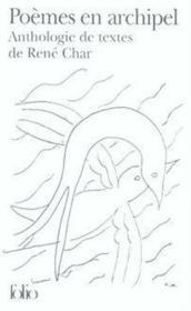 Poèmes en archipel ; anthologie de textes - Couverture - Format classique