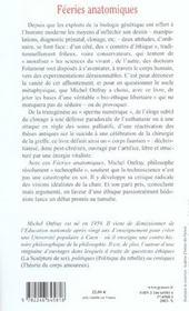 Féeries anatomiques ; généalogie du corps faustien - 4ème de couverture - Format classique
