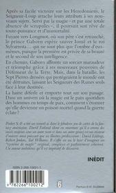 Les seigneurs des runes.. 2. La douleur de la terre. L'anneau du serpent. Volume : II - 4ème de couverture - Format classique