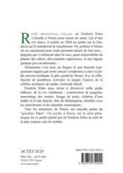 Un Jardin A Venise - 4ème de couverture - Format classique