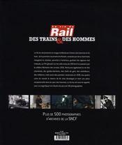 Des trains et des hommes - 4ème de couverture - Format classique