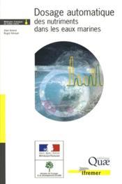 Dosage automatique des nutriments dans les eaux marines - Couverture - Format classique