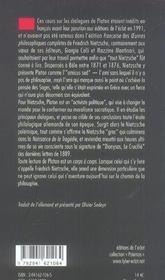 Introduction A L'Etude Des Dialogues De Platon - 4ème de couverture - Format classique