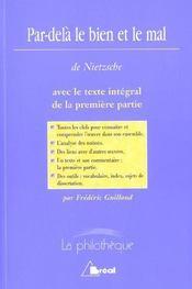 Par-delà le bien et le mal, de Nietzsche - Intérieur - Format classique