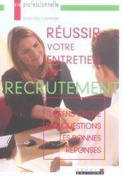 Reussir votre entretien de recrutement - Intérieur - Format classique