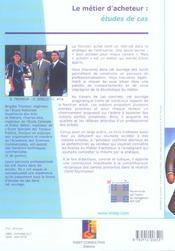 Le metier d'acheteur : etudes de cas. les chemins de la professionnalisation. nl (édition 2005) - 4ème de couverture - Format classique