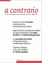 Revue A Contrario N.1/3 - Couverture - Format classique