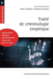 Traité de criminologie empirique (4e édition) - Couverture - Format classique