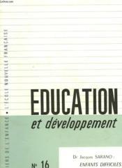 Education Et Developpement - N°16 - Couverture - Format classique
