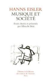 Musique et societé. traduit allemand et anglais. - Couverture - Format classique