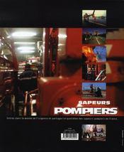 Sapeurs pompiers ; les soldats du feu - 4ème de couverture - Format classique