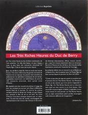 Les Tres Riches Heures Du Duc De Berry - 4ème de couverture - Format classique