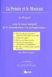 La pensee et le mouvant (bergson) - Intérieur - Format classique