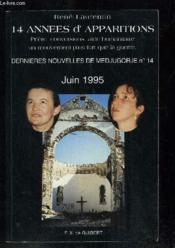 14 annees d'apparitions - dernieres nouvelles de medjugorje n 14, juin 1995 - Couverture - Format classique