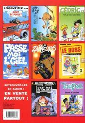 Spirou magazine ; spécial été 2000 - 4ème de couverture - Format classique