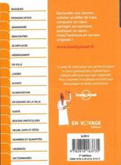 GUIDE DE CONVERSATION ; arabe marocain (7e édition) - 4ème de couverture - Format classique