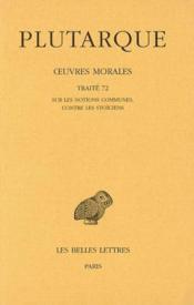 Oeuvres morales t.15-2 ; traité 72 - Couverture - Format classique