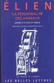 Personnalite des animaux t2 l10-17+index (la) - Couverture - Format classique