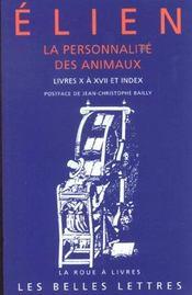 Personnalite des animaux t2 l10-17+index (la) - Intérieur - Format classique
