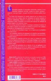 Analyse Economique Et Financiere Des Nouveaux Risques - 4ème de couverture - Format classique